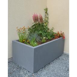 Jardinière 150x80x60 - Finition gris moyen