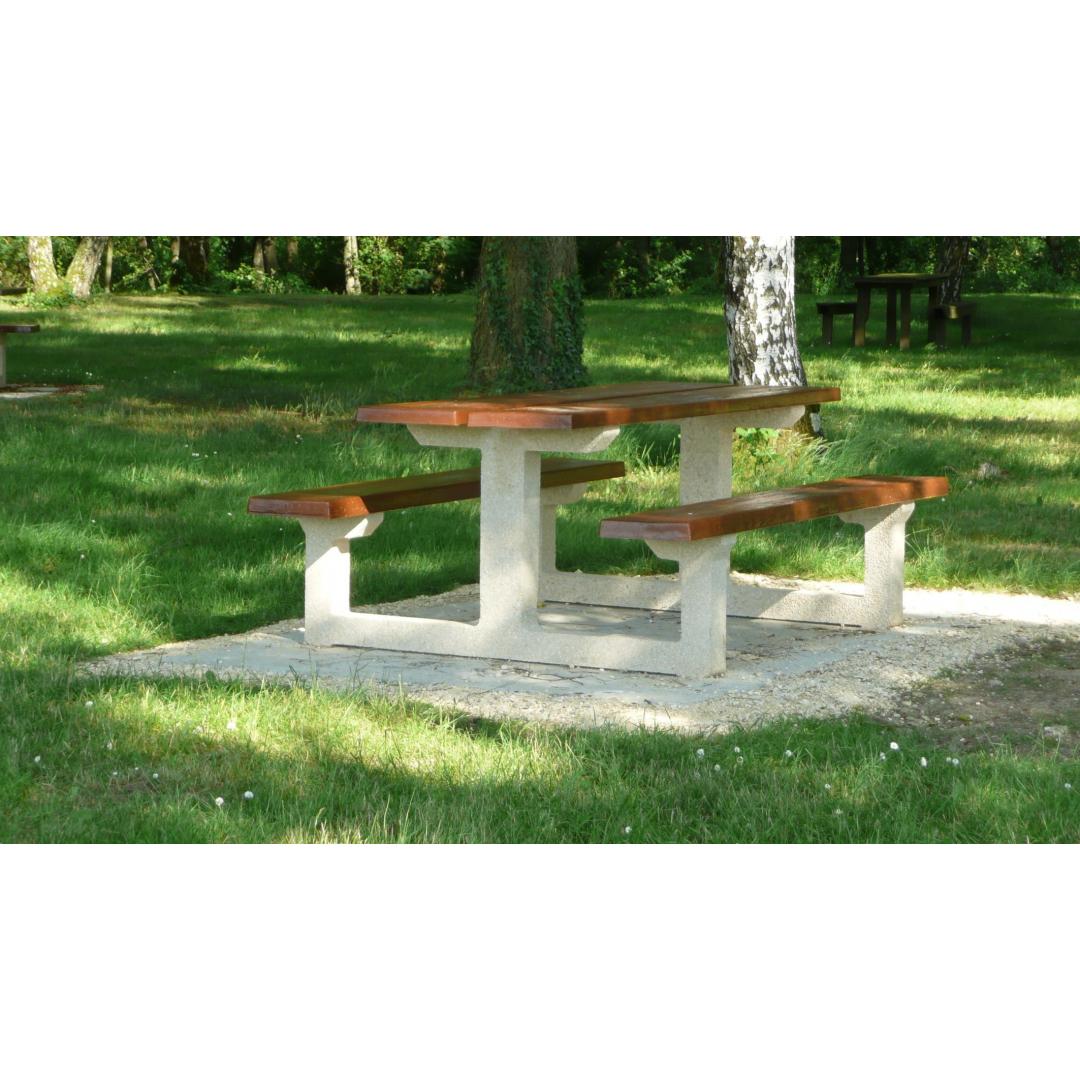 Table béton bois TABG200 - standard