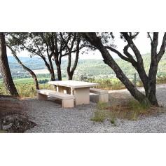 Table béton blanc THEMIS
